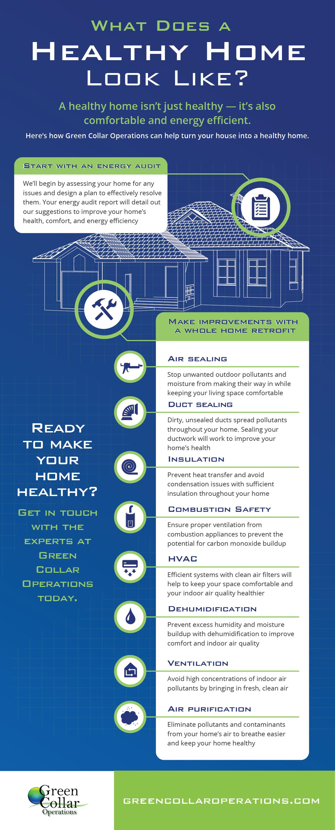 what does a healthy home look like infographic green collar operations