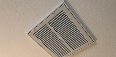 Ceiling HVAC duct installed by Green Collar Operations in Austin, Texas